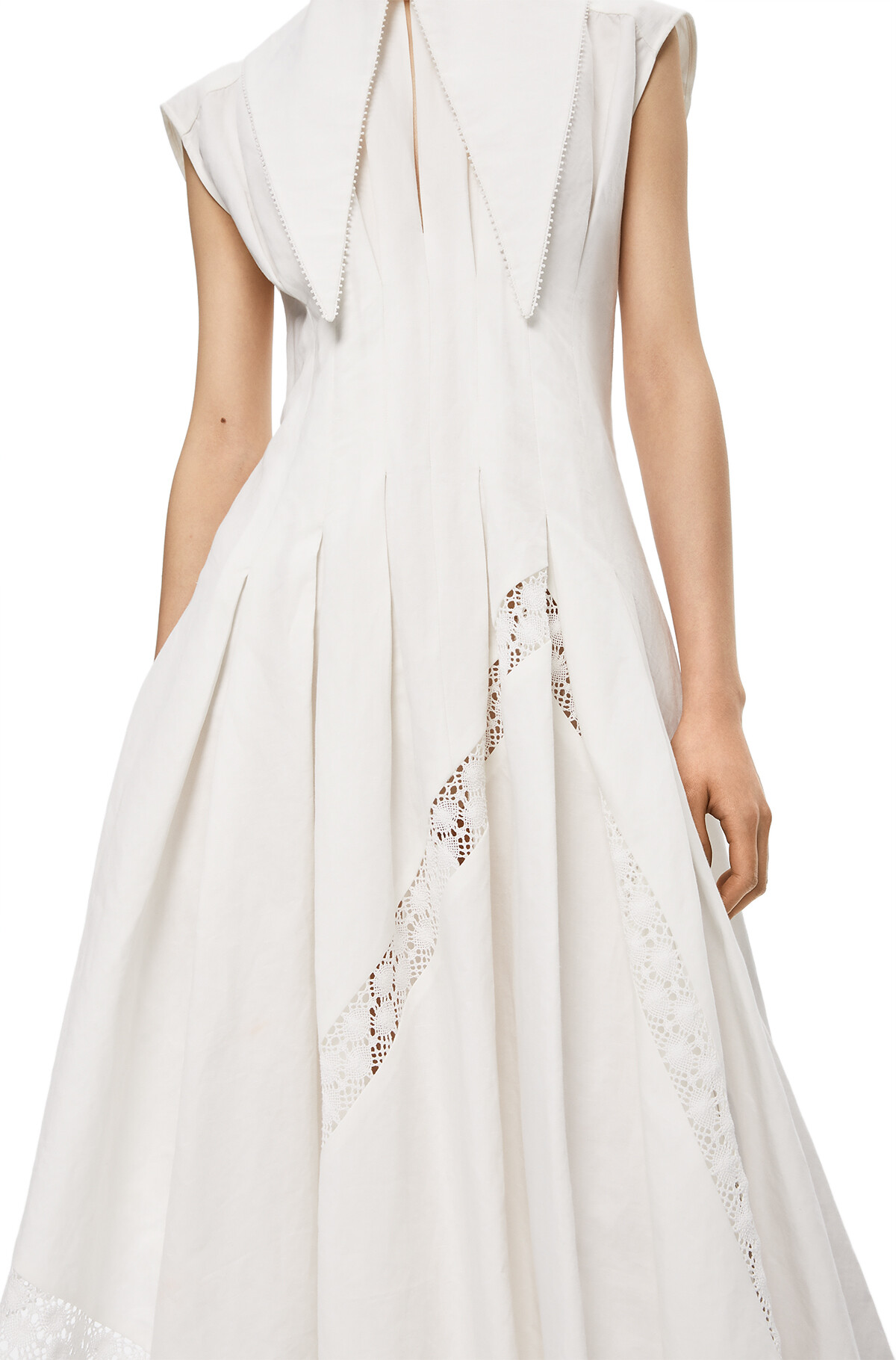 LOEWE Oversize Collar Dress White front