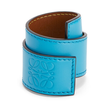 LOEWE Slap Bracelet Small Peacock Blue front