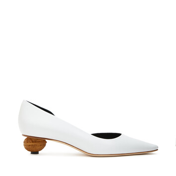 LOEWE Nut Heel Pump 35 White/Natural front