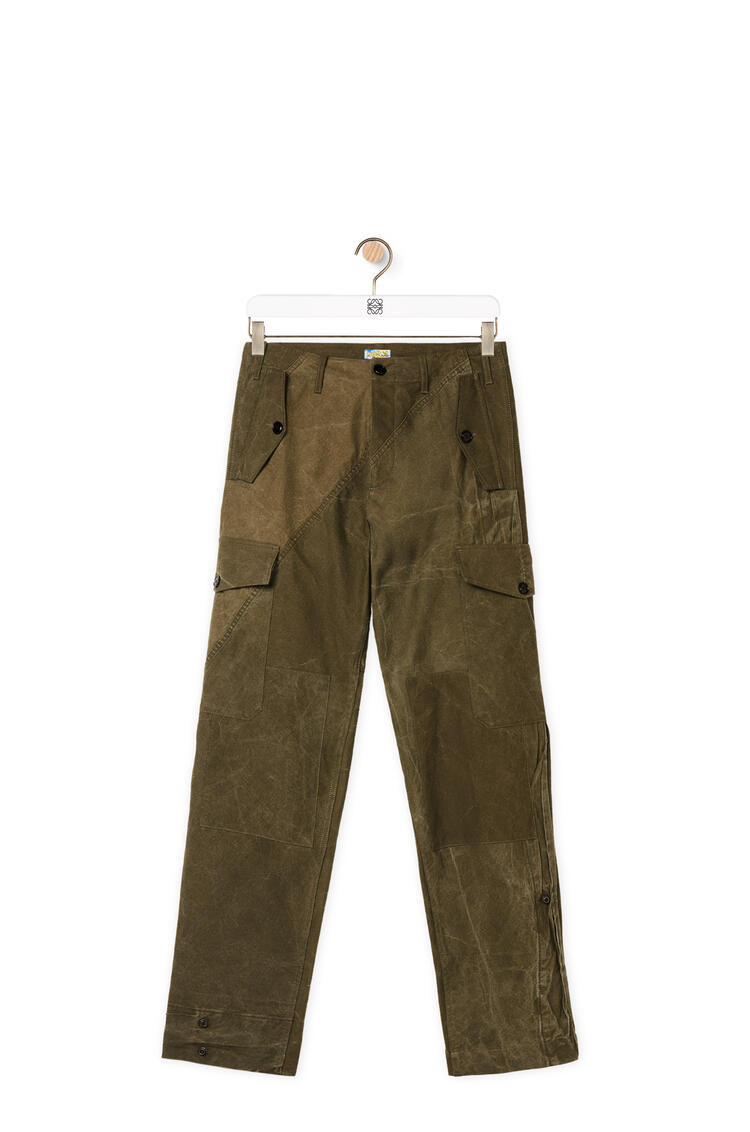 LOEWE Military tent cargo trousers in cotton Military Green pdp_rd