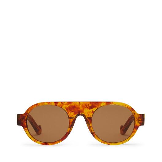 LOEWE Gafas Redondas Aviador Ambar front