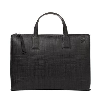 LOEWE Goya Simple Briefcase 黑色 front