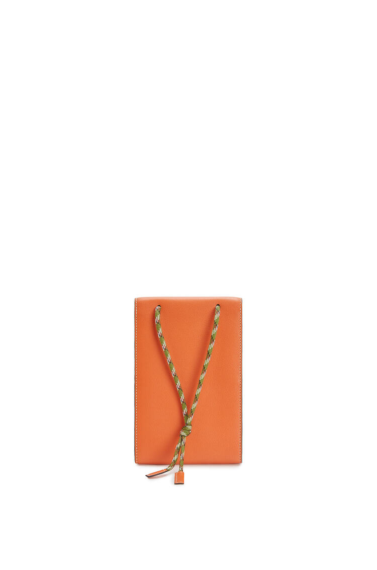 LOEWE Neck pocket in classic calfskin Orange pdp_rd