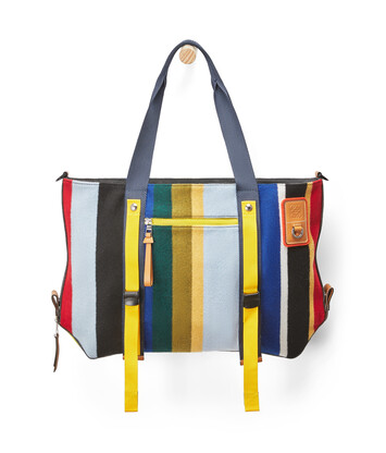 LOEWE Eye/Loewe/Nature Bolso Tote Rayas Multicolor front