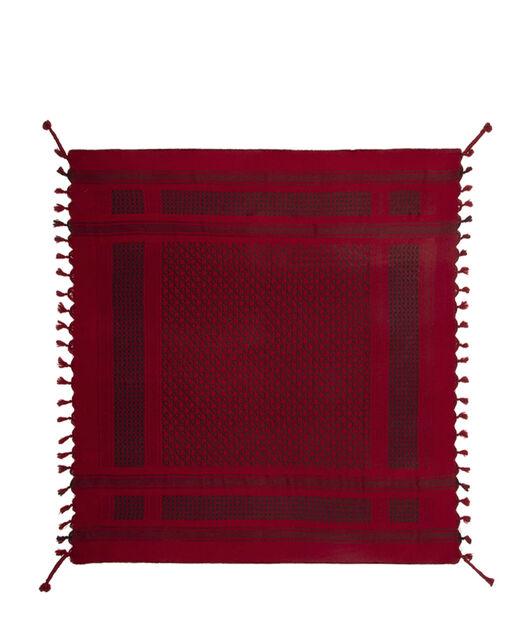 LOEWE 120X120 Scarf Keffiyeh Rojo all