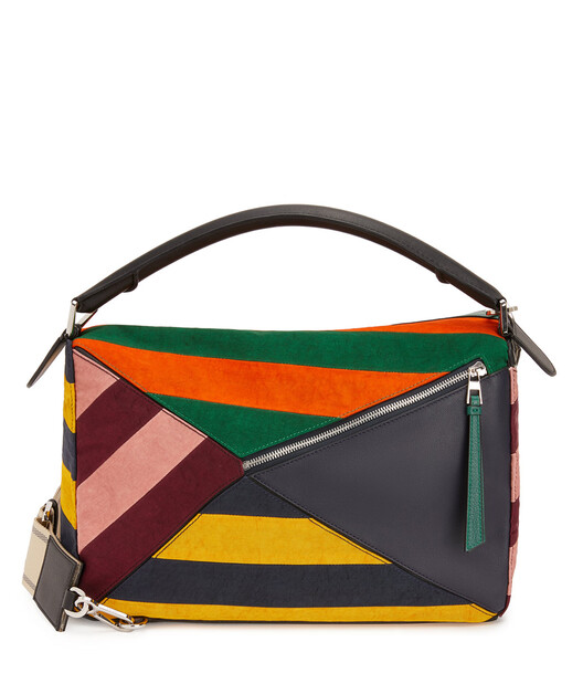 LOEWE Puzzle Rugby Large Bag Multicolor front