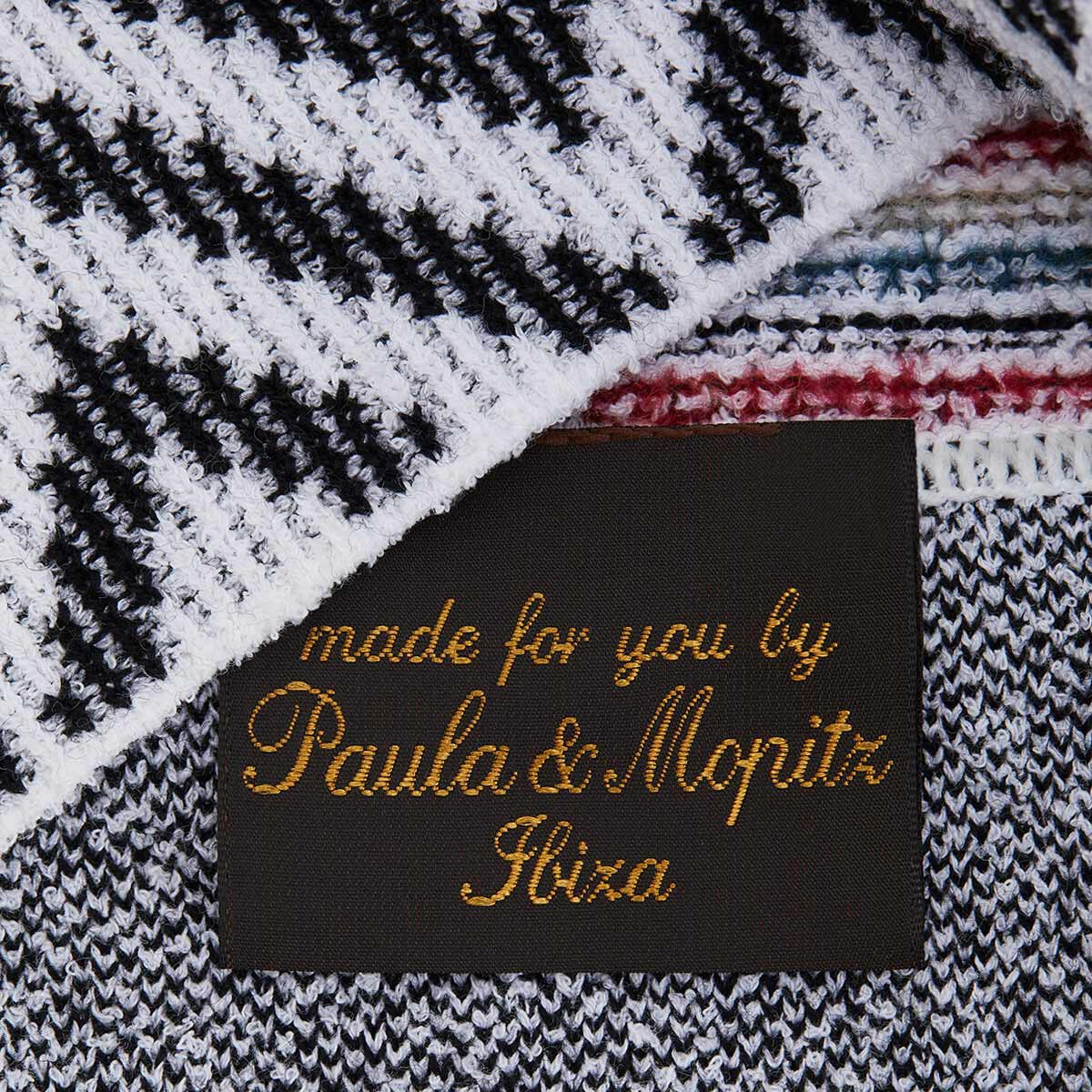 LOEWE Paula Knit Beanie White/Red/Navy front