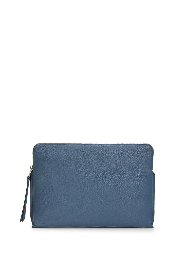 LOEWE 压纹牛皮革 Goya 公文包 靛蓝色 pdp_rd