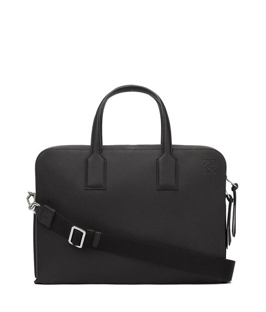 LOEWE Goya Thin Briefcase Black all