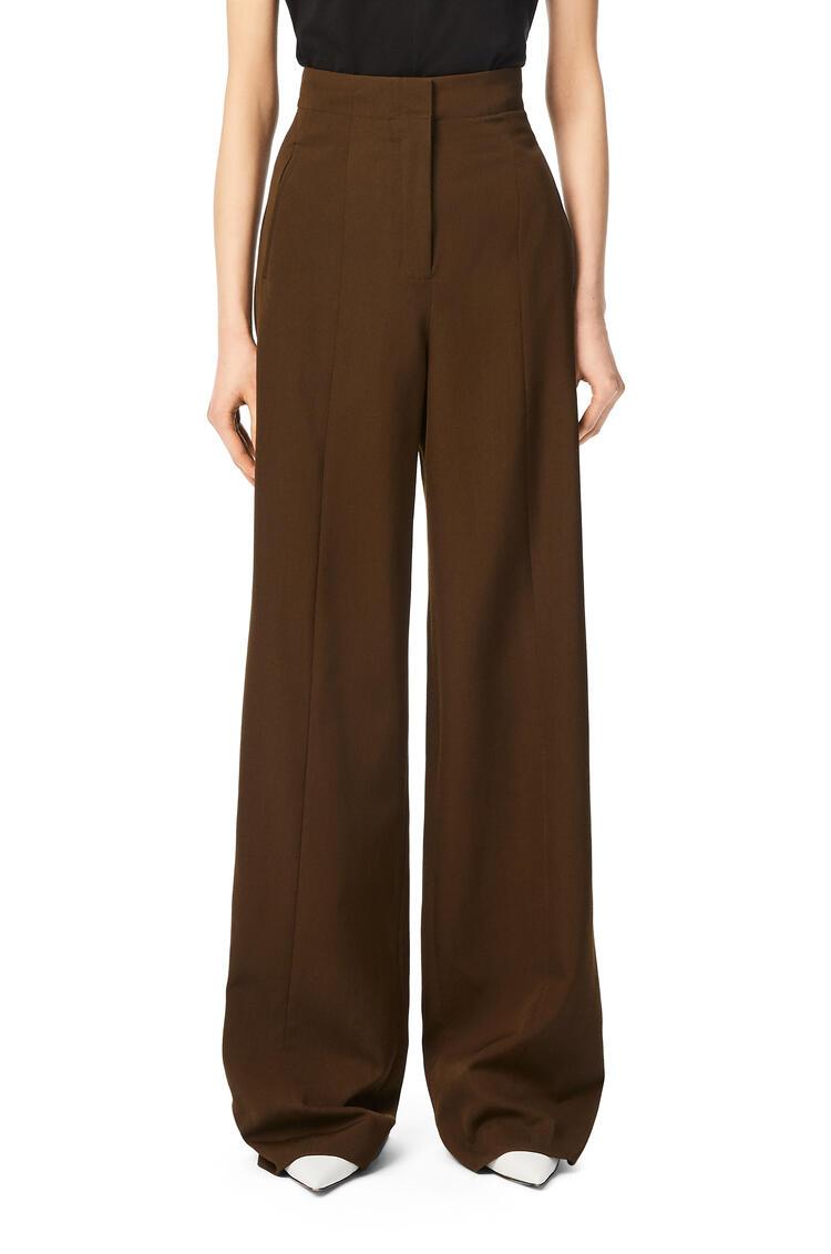 LOEWE Military trousers in wool and silk Khaki Green pdp_rd