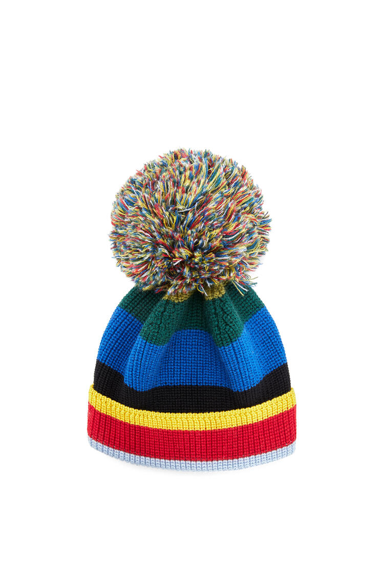 LOEWE Knit beanie in striped cashmere Multicolor pdp_rd