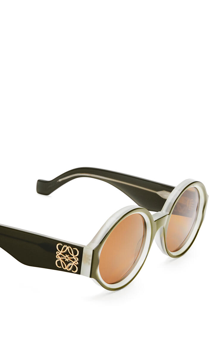 LOEWE Gafas de sol redondeadas y gruesas en acetato Khaki Matizado pdp_rd