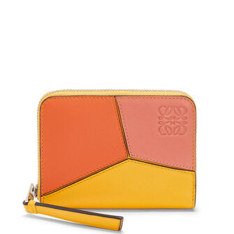 LOEWE Puzzle Zip 6 Card Holder Orange/Mandarin front