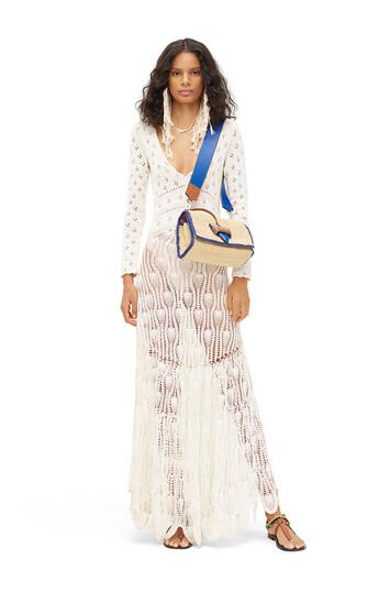 LOEWE Paula Crochet Dress Off-White front