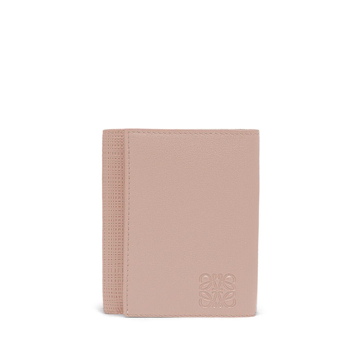 LOEWE Linen Trifold Wallet Blush front