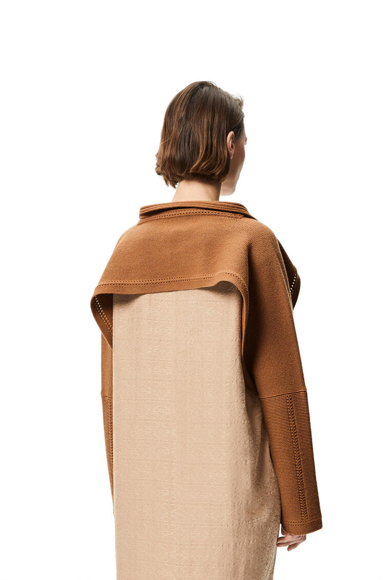 LOEWE Polo collar bolero in wool and cashmere Camel pdp_rd