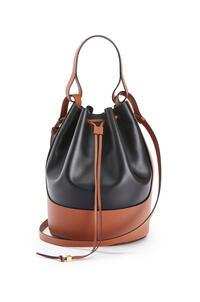 LOEWE Large Balloon bag in nappa calfskin Black/Tan pdp_rd