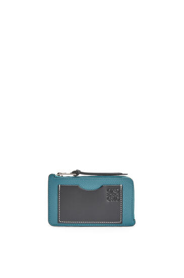 LOEWE Coin cardholder in soft grained calfskin Dark Lagoon pdp_rd