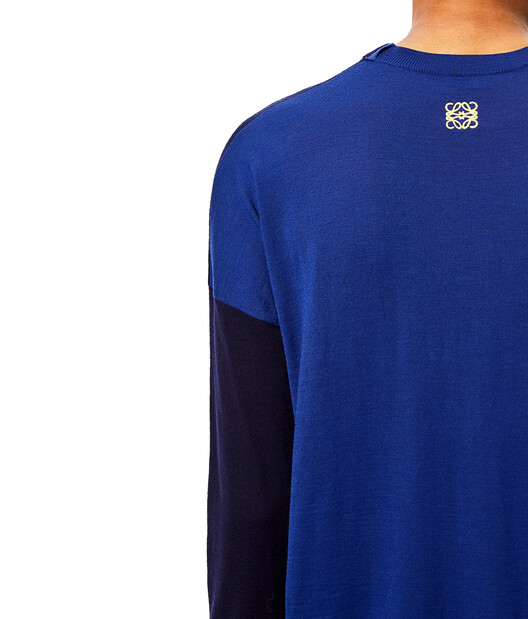 LOEWE Anagram Sweater Navy Blue/Blue front
