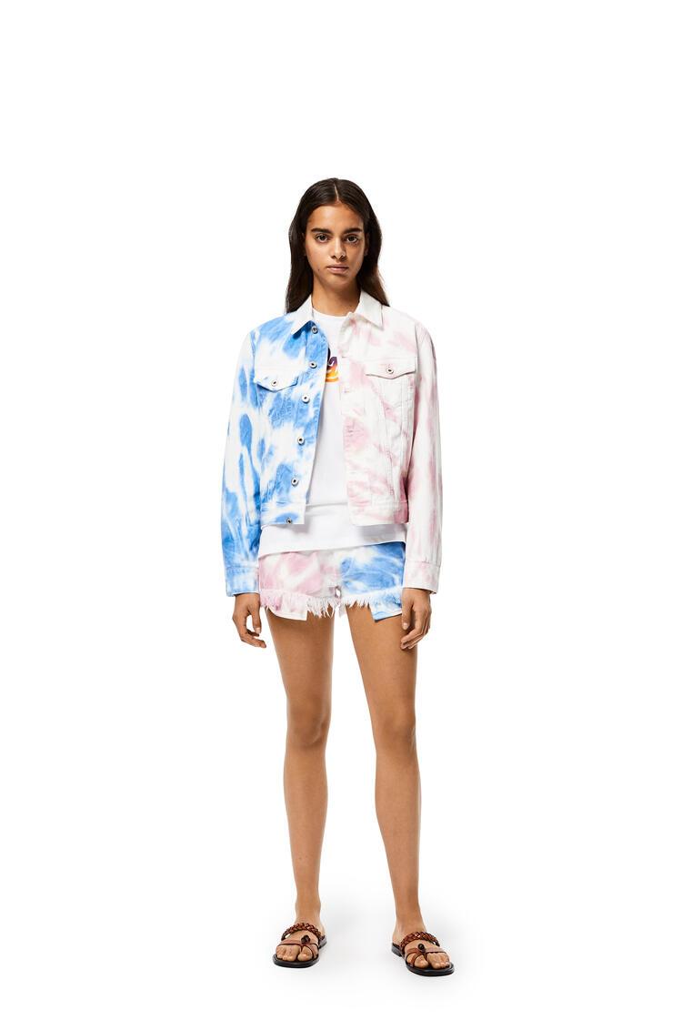 LOEWE Shorts in tie dye cotton Blue/Pink pdp_rd