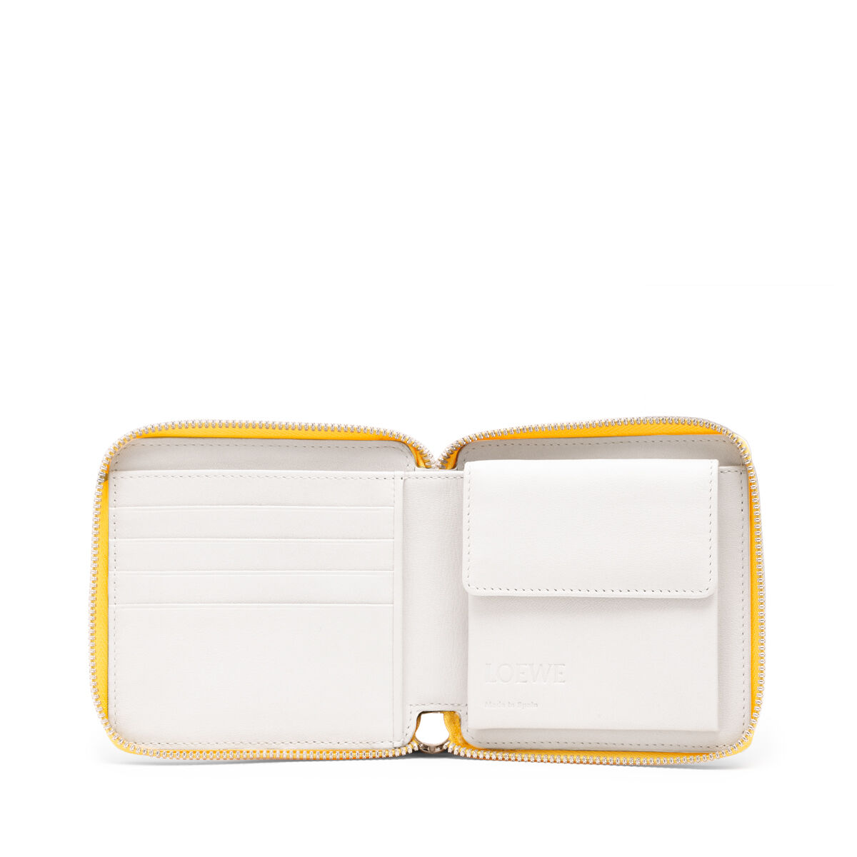 LOEWE Square Zip Wallet Yellow/White all