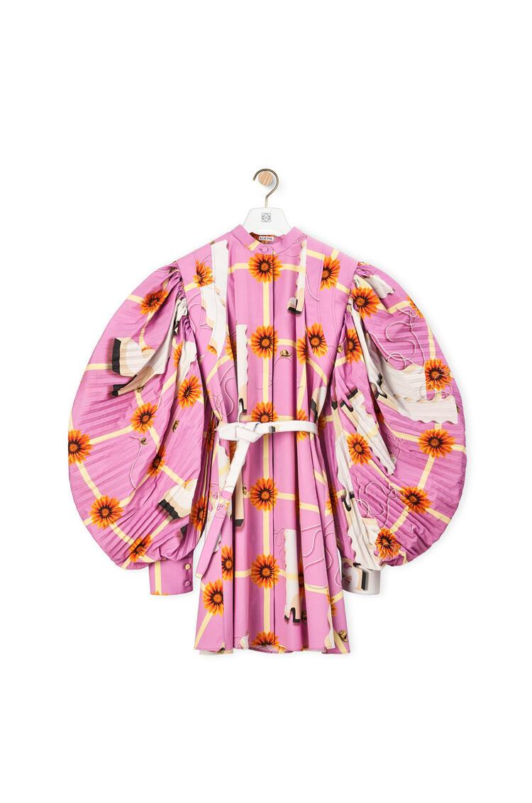 LOEWE 棉质百褶袖迷你连衣裙 多色拼接 pdp_rd