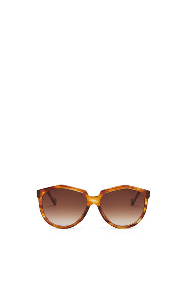 LOEWE Oversized Sunglasses in acetate Striped Havana pdp_rd