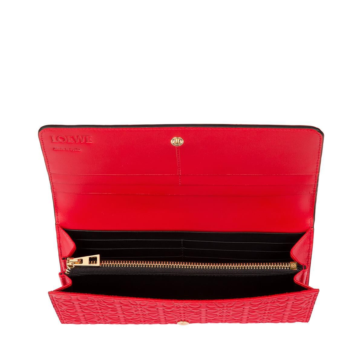 LOEWE Continental Wallet Primary Red front