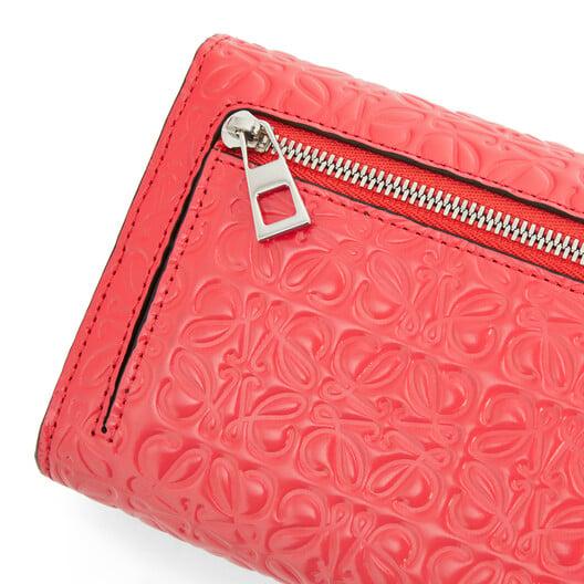 LOEWE コンチネンタル ウォレット Poppy Pink front