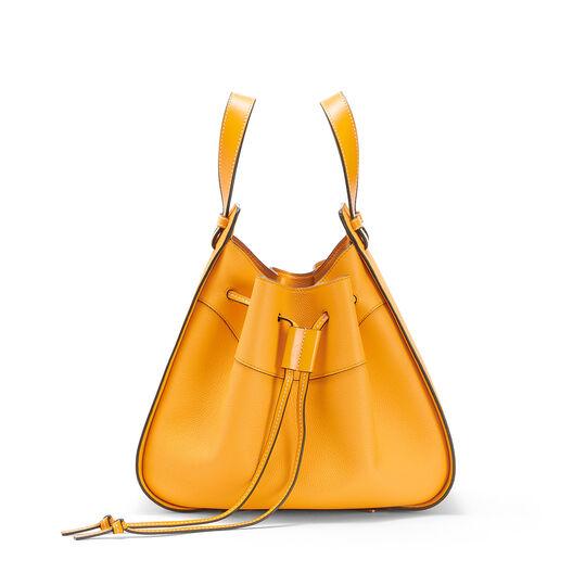LOEWE Hammock Drawstring Medium Bag Mandarin front