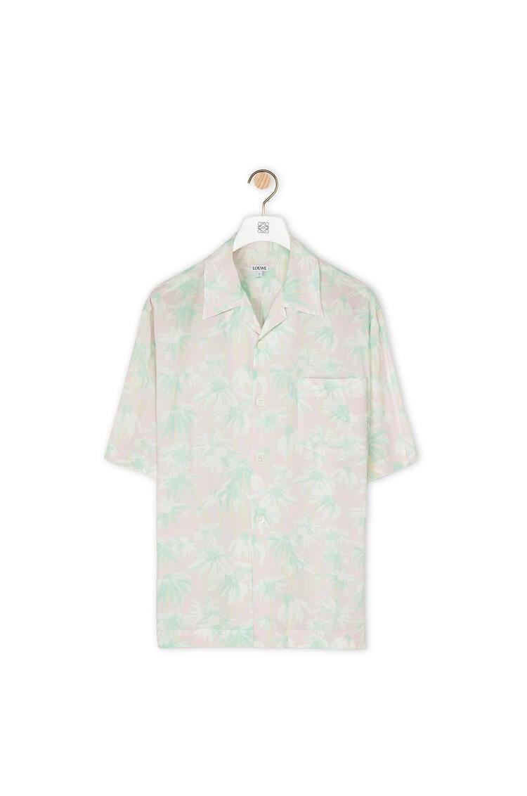 LOEWE Bowling Shirt In Daisy Viscose Pink/Light Green pdp_rd