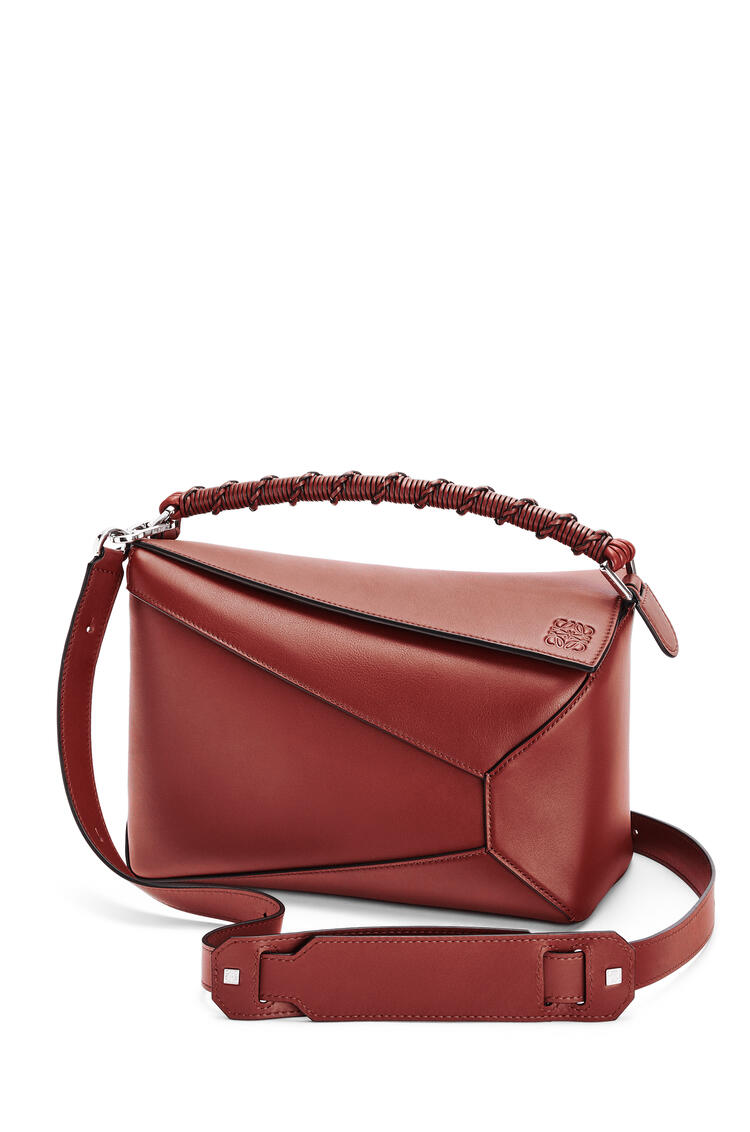 LOEWE Puzzle Edge bag in nappa calfskin Dark Rust pdp_rd