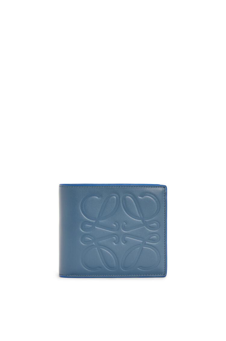 LOEWE Bifold wallet in smooth calfskin Steel Blue pdp_rd
