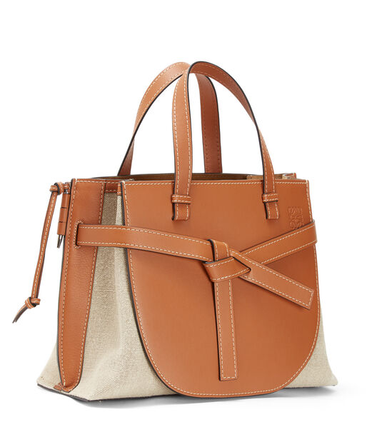LOEWE Gate Top Handle Bag Tan/Natural all