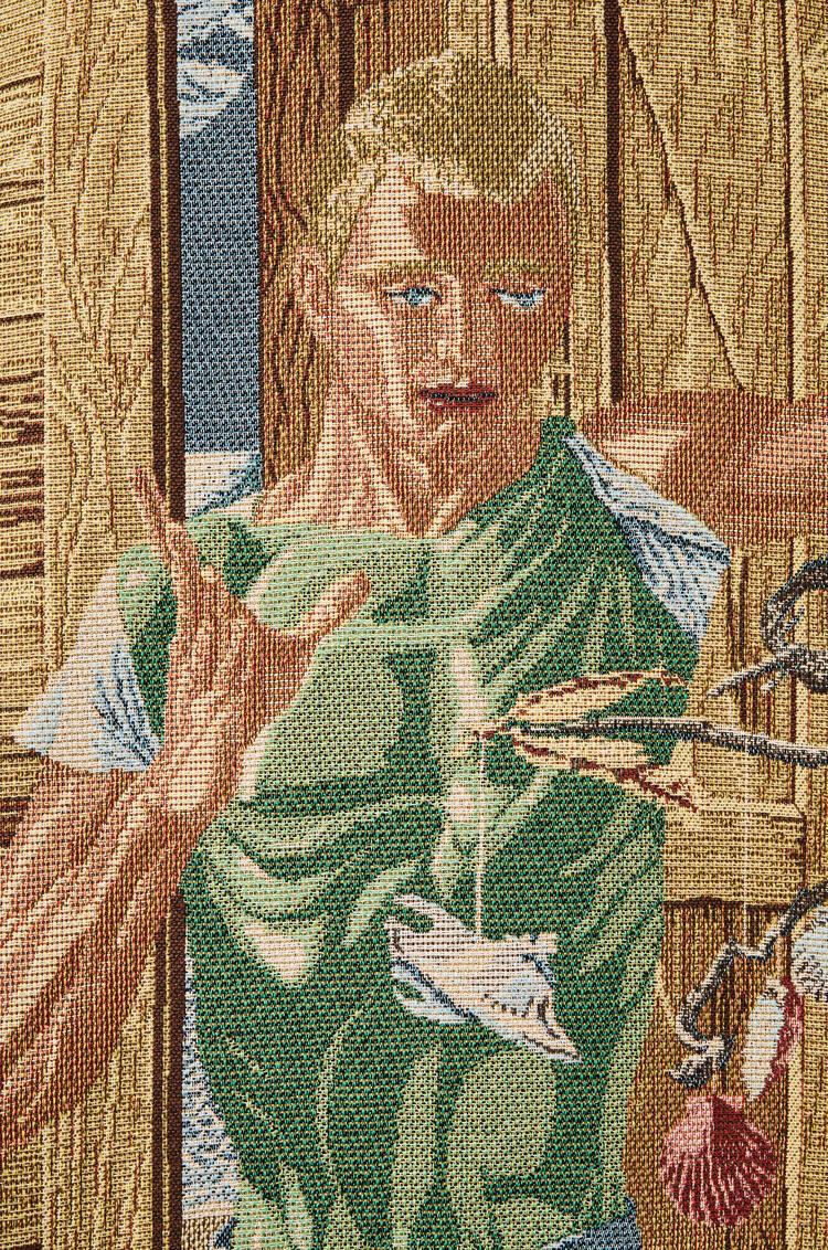 LOEWE Sobrecamisa en algodón con panel tapizado Negro pdp_rd