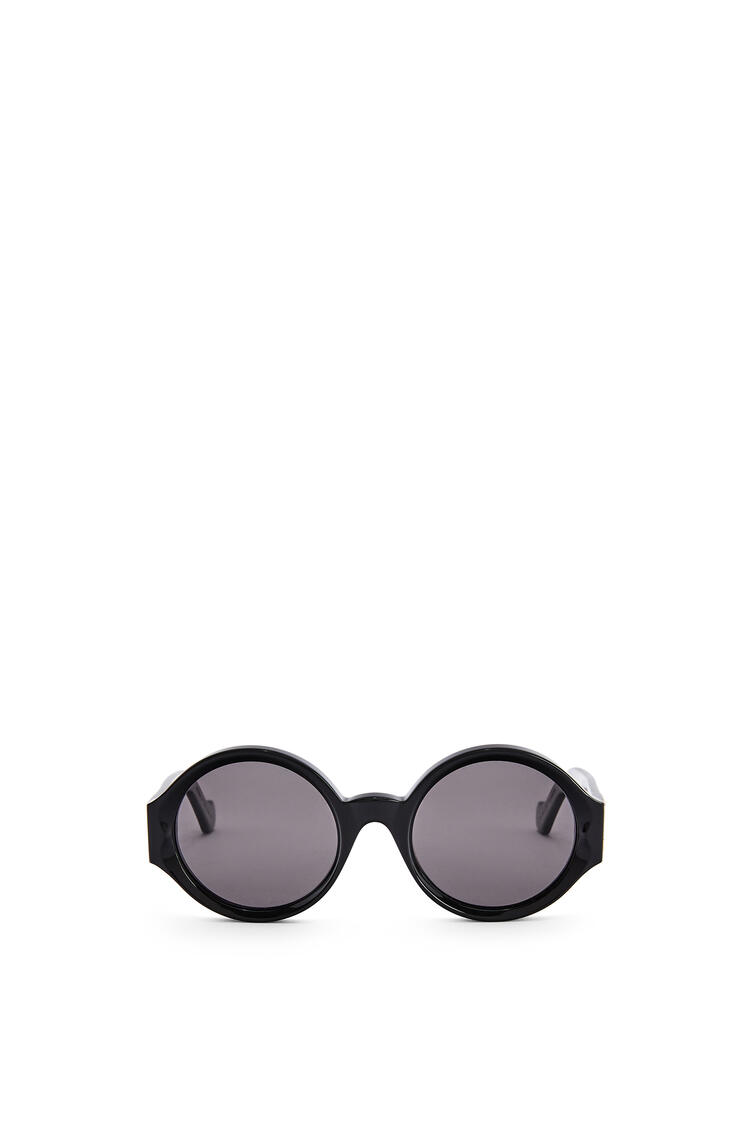 LOEWE Chunky round sunglasses in acetate Black pdp_rd