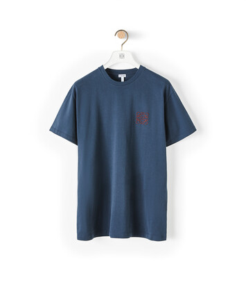 LOEWE Anagram T-Shirt Navy Blue front