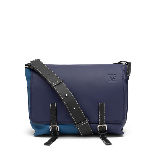 LOEWE Military Messenger Small Bag Marine Multitone all