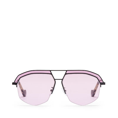 LOEWE Gafas Elio Negro Mate/Rosa front