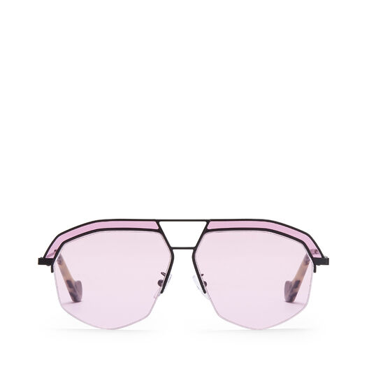 LOEWE Geometrical Sunglasses Matte Black/Pink all