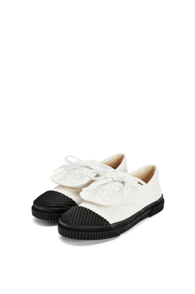 LOEWE Anagram flap sneaker in canvas Soft White pdp_rd