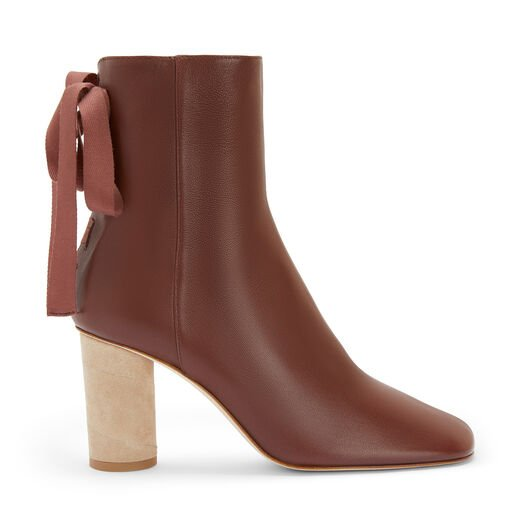 LOEWE Ankle Boot 80 バーガンディー front
