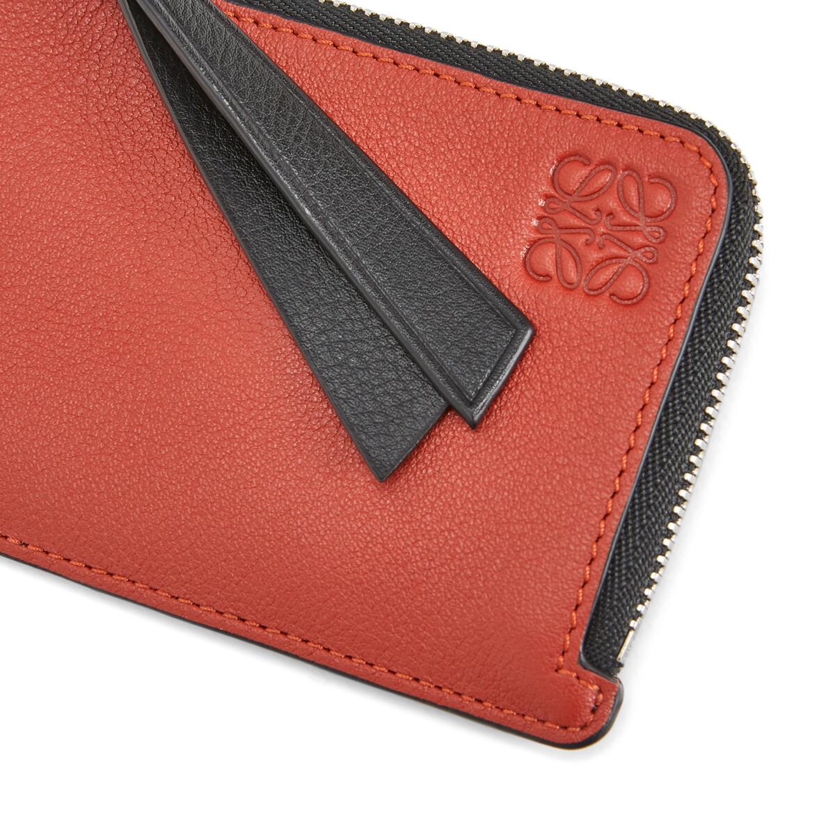 LOEWE Coin Cardholder Bicolor Black/Red front
