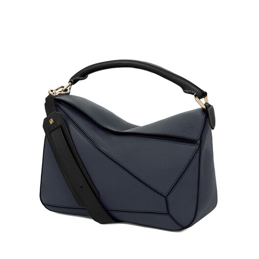 LOEWE Bolso Puzzle Azul Medianoche/Negro all