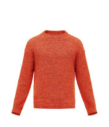 LOEWE Crewneck Sweater Melange Rojo front