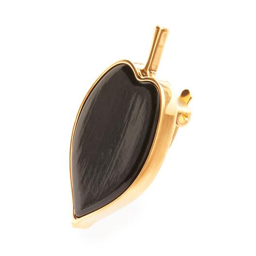 LOEWE Leaf Earrings Black front