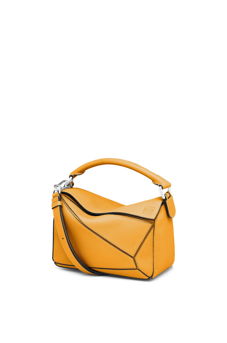 LOEWE Small Puzzle bag in soft grained calfskin Sunflower pdp_rd