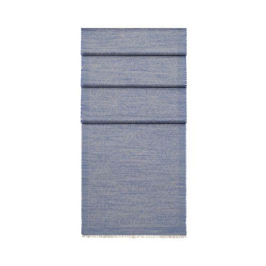 LOEWE 45X200 Scarf Damero Azul Royal all