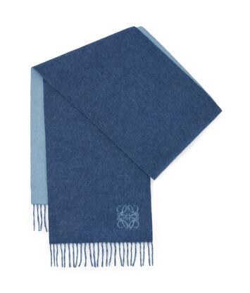 LOEWE 30X180 Anagram Scarf Denim Blue/Aqua front