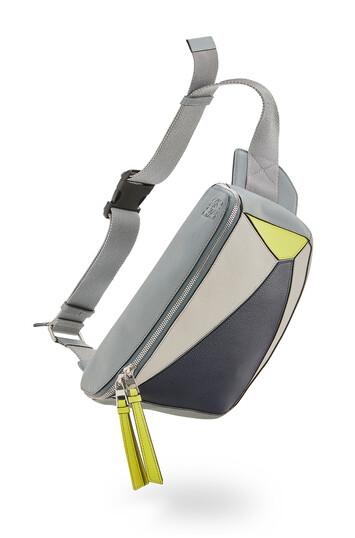 LOEWE Puzzle Sling Gris/Amarillo front